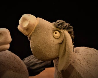 Donkey clay whistle Esel ton pfeife asino fischietto