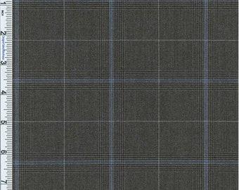 Black/Gray Glen Plaid Stretch Polyester, Fabric By The Yard