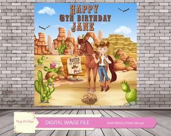 Cowgirl Birthday Digital Backdrop, Cowgirl Party, Cowgirl Backdrop, Cowgirl Theme, Newborn Backdrop, Western Backdrop *DIGITAL IMAGE FILE*