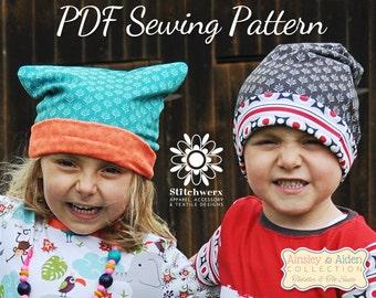 Slouchy Beanie, PDF Beanie Pattern, Pussy Hat Pattern, Kids Hat Pattern, Adult Beanie Pattern, Girls Hat Pattern, Baby Beanie Pattern