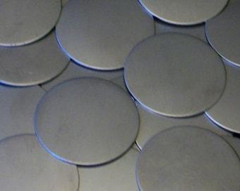 Nickel Silver Discs - 16 Gauge, stamping blanks, metal blanks, stamping rounds, round blanks, stamping discs, stamping disks