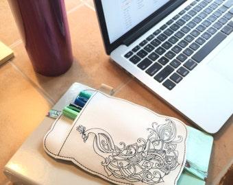 Pen Holder planner band -planner accessories - pen pocket holder -best gifts for her - fits happy, erin condren, mambi, bullet journals