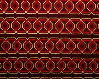 Fabric, Cotton Fabric, Benartex Fabric, Ornamental Splendor, Quilting Fabric, Sewing Fabric, EEECrafter, Red and Gold, By the Yard, Red