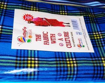 Beautifully Crafted Original Kenyan Maasai/Masai Multi-colored Shuka blanket- Masai/African Maasai shuka (blanket) - Masai shuka picnic mat