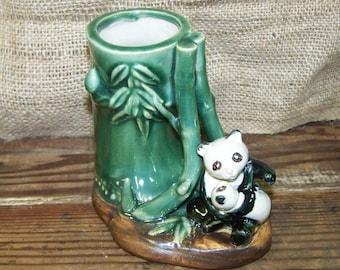 Marjolica Vase Panda Vase Panda Bamboo Vase