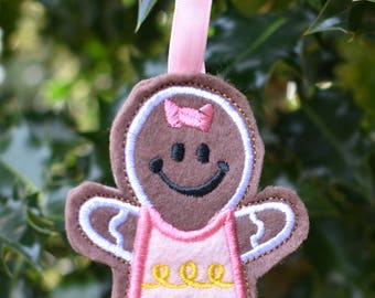 Gingerbread Girl Christmas Cookie Ornament