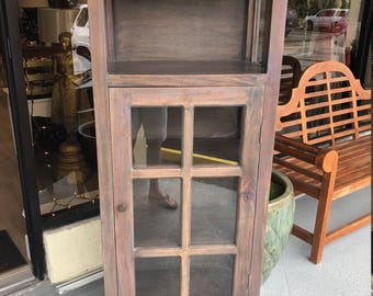 Wooden cape cod style display case