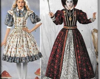 Simplicity 2325 / 0411 Queen of Hearts Alice In Wonderland Dress Renaissance Costumes Pattern UNCUT Size 14, 16, 18, 20, 22