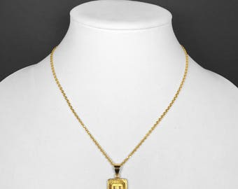plated locket chain e gold amaal for alphabet pendant heart and letter women with men buy