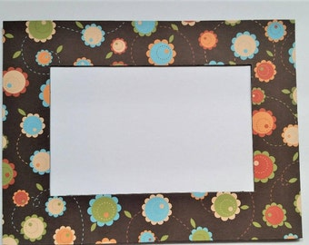 Flowers Refrigerator Photo Frame Magnet.  Will hold a 4x6 Picture.
