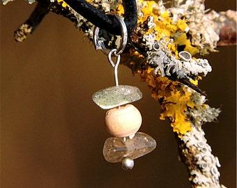 Gypsy bohemian jewelry Labradorite jewelry Gypsy bohemian necklace Genuine stone pendant Genuine labradorit necklace wood stone pendant awin