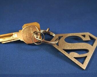 SUPER MAN Titanium keychain/PENDANT