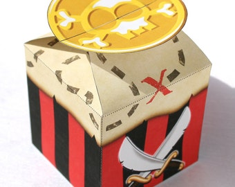 Small Pirate Treat Box (Instant Download)
