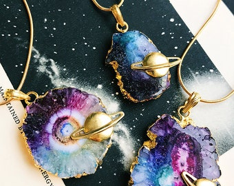 Aura Quartz Nebula Necklace