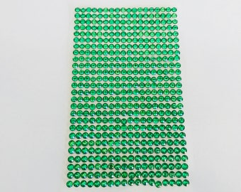 Plate 468 rhinestone stickers 4mm Green cabochon