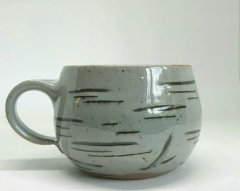 Mug, Birch Mug, Stoneware,pottery, ceramic, coffee, tea, latte cup