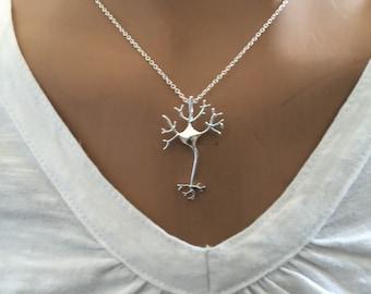 Neuron Necklace Neuroscience Necklace  Neuron Structure Neuron Brain Pendant Synapse Neurotransmitter JewelryGift for Neurologist