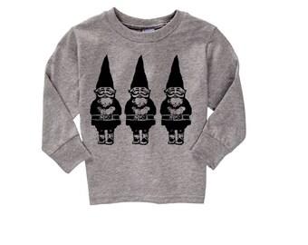 Toddler Gnome Sweatshirt holidays T Shirt Children's Christmas Clothing Kids Shirts Gnomes Boy Girl Shirts Woodland Screen Print 2T 3T 4T