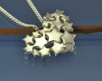 Star Heart Pendant Sterling Silver