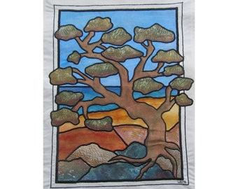 Pine by the Sea Textile Wall hanging