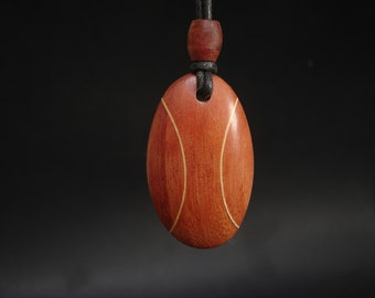 Wood pendant necklace, men's necklace, woman's necklace, statement necklace, hand made, pendant neckace,
