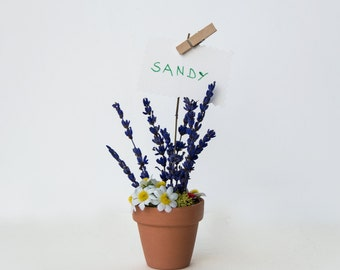 Rustic wedding favor, rustic flower placeholder, Italian wedding favor, nice small gift, moss and lavender wedding favor, nice natural favor
