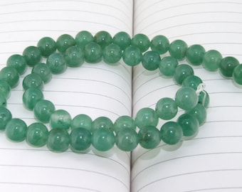 """strand Round   Jade Beads ----- 8mm ----- about 48Pieces ----- gemstone beads--- 15"""" in length"""
