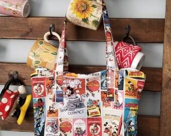Zipper disney tote / library / travel bag