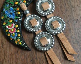 Light brown concho earrings