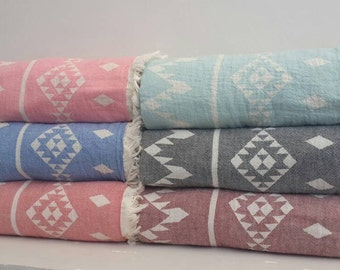 Gypsy throw towel - Bohemian Beach Towel - Yoga towel mat - Gypsy Baby throw  - BohoStyle Sarong - Two-sided towel - Kilim towel