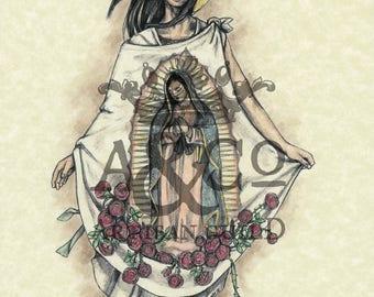 Saint Juan Diego Art Print