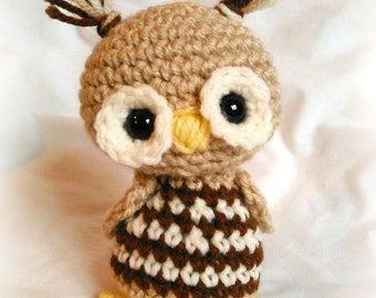 Little Hoots Mini Scrappy Owl; CROCHET PATTERN: PDF
