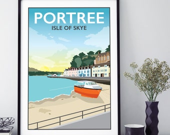 Portree, Isle of Skye, Scotland Print