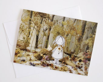 In the forest - Greeting Card - Paper diorama