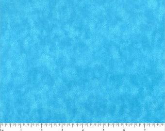 "108"" Quilt Backing Aqua Blue Marble"