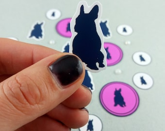 """Small stickers-set """"French Bulldog"""" silhouette"""