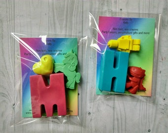 Personalised Letter Crayons, Favour Crayons, Crayon Gift, Children Gifts, Party Favours, Novelty Gift, Wedding Favour, Birthday Gift