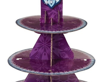 CLEARANCE Frozen Cupcake Stand - Holds 24 Cupcakes - Cupcake Display - Frozen Party - Kids Birthday - Dessert Stand