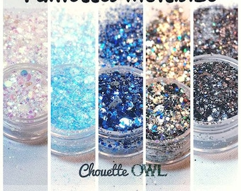 Paillettes, holographique, galaxy, résine uv, iridescent, nail art, resin molds, chunky glitter, hologram, glitter mix, epoxy, 10 grammes