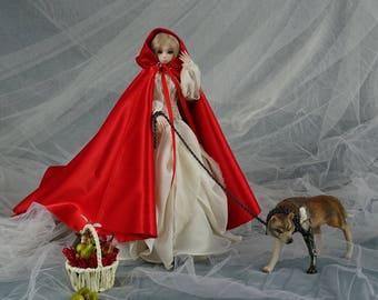 little red riding hood. Porcelain bjd doll