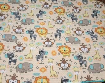 Zoo Animals Baby Blanket
