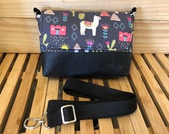 Grab & Go Mini Messenger Bag - Sunny Desert Alpaca
