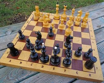 Tournament soviet chess set // Wooden big Grossmeister chess USSR