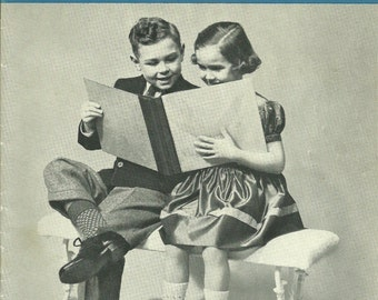 Vintage Knitting Patterns, Children Socks by Beehive 2 to 14 years Patons & Baldwins Series 68 1950s