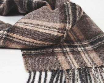 wool scarf / alpaca wool scarf / alpaca scarf / brown scarf / dark brown scarf / brown wool scarf / light brown scarf 'Dark brown mix'