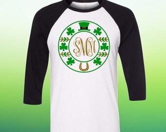Womens St Patricks Day Shirt, Saint Patricks Day Monogram Shirt Womens, Personalized St Patricks Day Shirt Women, Shamrock Shirt, Plus Sizes