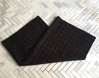 Black and Red Tweed Fabric Remnants