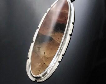 Red Creek Jasper Sterling Silver Artisan Pendant