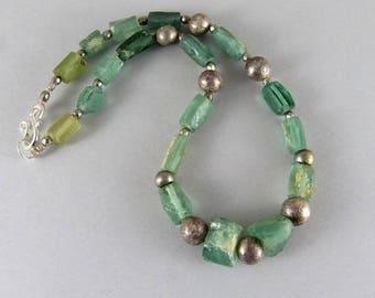 Ancient Roman glass necklace