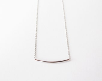 Silver  Bar necklace - minimal